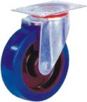 Elastic rubber castor with nylon core, roller bearing(Swivel)